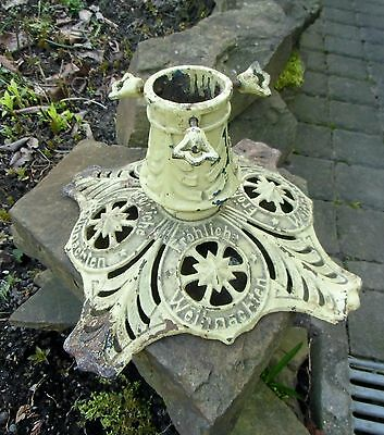 UNCOMMON CAST IRON CHRISTMAS TREE STAND GERMAN ANTIQUE from about 1900