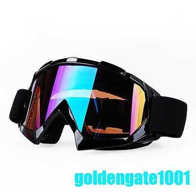 Black Frame Skiing Helmet Goggles Off Road Snowboard Sunglasses For Suzuki GG