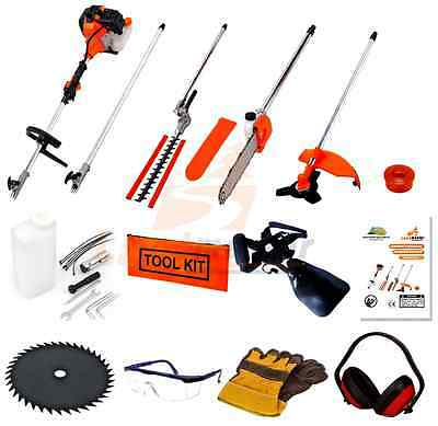 52cc 5 In1 Multi Function Tool Strimmer, Brush Cutter, Chainsaw, Hedge Trimmer
