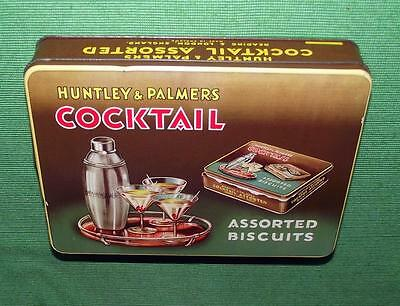 Superb c1930 Art Deco Cocktail Time Lithographed Huntly & Palmer Tin