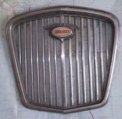 Old Modernist Art Deco Chrome Wolsely Radiator Grille - Superb Wall Hanging B