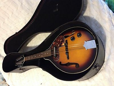 ARIA Mandolin Gorgeous Electric Acoustic Model 8 String AM200E/BS CASE. 70's
