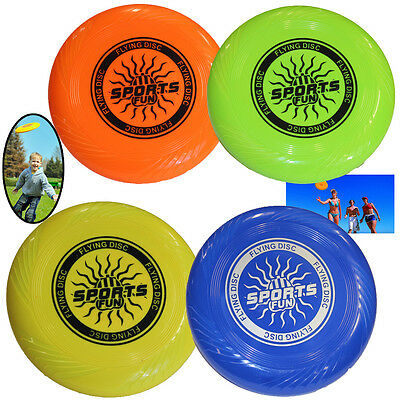 Flying Frisbee Plastic Ring 10 Inch Beach Fun Sport Toys Dog Catch Adults Kids