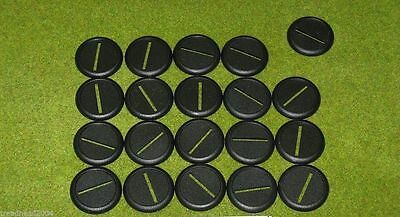 40mm Round bases slotted with lip Warmachine Warhammer