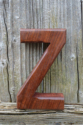 Handcarved Wooden 3 Dimensional Letter Z Sign Font Shelf Art Name Letter