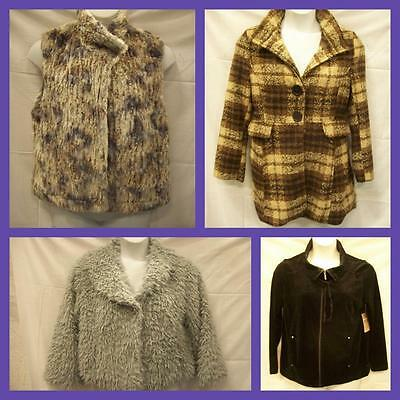 Lot of 4 PRETTY & STYLISH Womens Coats Jackets Size LARGE L FOREVER 21 2 NWT