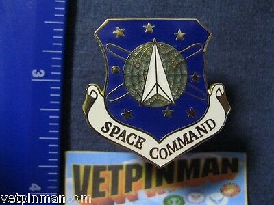 Air Force Space Command Pin USAF SPACE COMMAND Military Hat or Lapel Pin 5731