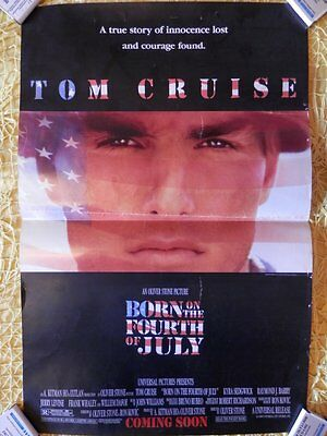 Poster Cartel Original Película: Born On The Fourth Of July Tom Cruise