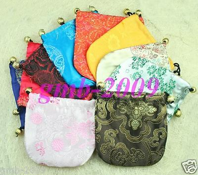 WHOLESALE 10 PCS HANDMADE SILK JEWELRY BAGS Multicolor nice Christmas gift bag