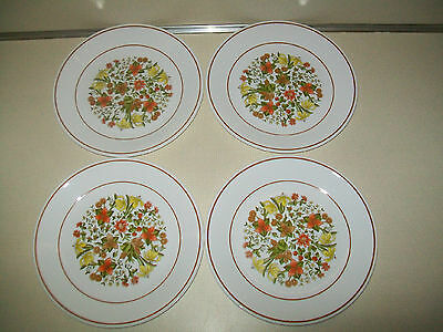 """Corning Corelle Retired Indian Summer 4 Four 8 1/2"""" Luncheon Plates"""