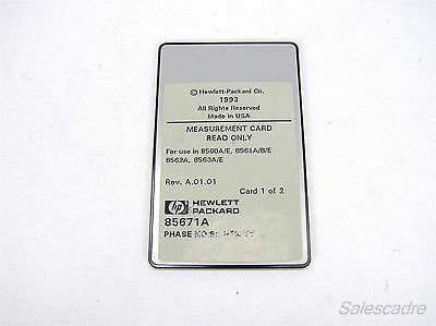 Agilent HP 85671A Phase Noise Measurements Utility for 8560 Series Card 1
