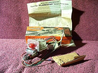 VINTAGE NOS 40s 50s 60s FLARESTAT 4 WAY HAZZARD WARNING FLASHER LIGHT ACCESSORY