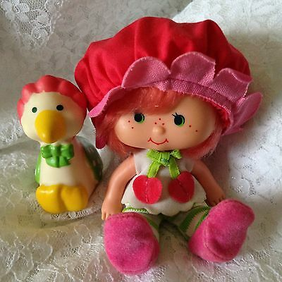80s Strawberry ShortcaKe Cherry Cuddler Doll With Gooseberry! Excellent Cond.