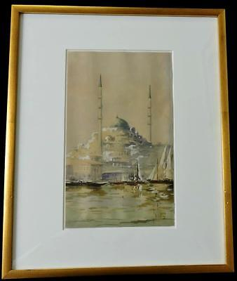 An Old, Beautiful Water Color Painting, Signed by Kudii