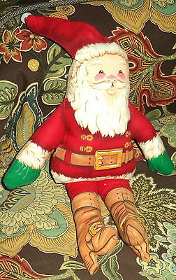 """Handcrafted 13"""" Cloth Christmas Doll NEW"""