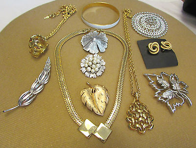 Vintage Lot Of Designer Signed Jewelry Crown Trifari-Monet- Emmons-Sarah Cov
