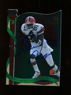 Quincy Morgan Autograph Signed 2002 Pacific Crown Royale Browns