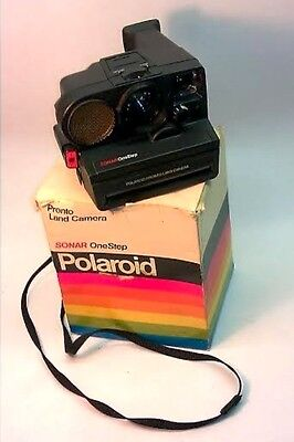 tested WORKING vintage POLAROID Pronto SONAR One STEP camera & PACKAGING