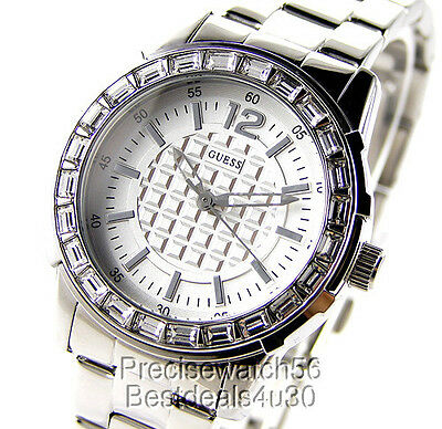 NEW GUESS WOMENS WATCH SWAROVSKI CRYSTALS STEEL BRACELET PRISM DRESS  COLLECTION