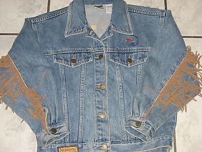 DISNEY STORE POCAHONTAS FRINGED DENIM JACKET EXCELLENT SZ LG 12/14 NICE!!