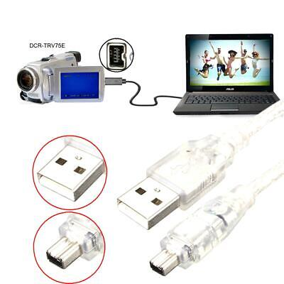 2pcs USB Male to Firewire IEEE 1394 4Pin Male Adapter Cable for SONY DCR-TRV75E