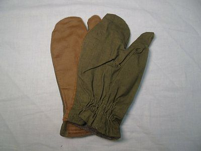 Soviet Russian Army standard soldiers 3-finger winter gloves