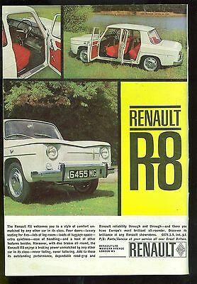 1963 Renault R8 Colour Magazine Advert