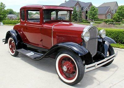 Ford : Model A 1931 ford 5 window coupe steel body gorgeous hot