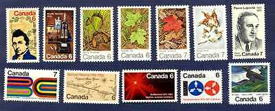 CANADA #532/558-GROUP OF 12 ISSUED FOR 1971-MNH