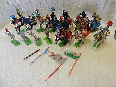 Britains LTD Knights 1971 Deetail Large Mixed Lot of 20 pieces 1 Civil war