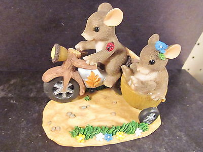 Charming Tails ALONG FOR THE RIDE 89/100 SIGNED BY DEAN !!!!! Mouse Motorcycle