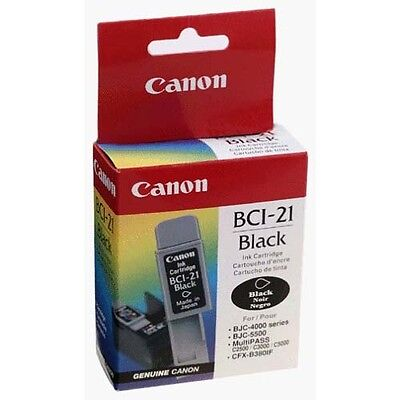 Lot of 4 Canon BCI-21 Ink Cartridges Black GENUINE NEW!