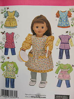 """18"""" Doll Clothes, Apron sewing pattern Simplicity 2761 Read Full Listing Info"""