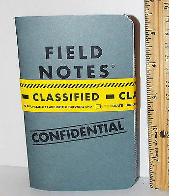 Loot Crate Special Agent Dossier Classified Field Notes Notebook 2 pack
