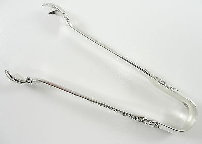 "1880 Gorham Sterling Silver Medici Old Large Sugar Tongs 5.25"" No Engraving"