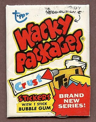 1970 's Topps Wacky Packages Original Prototype Wax Pack - RARE !!