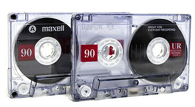40 MAXELL UR90 NORMAL BLANK RECORDABLE IEC TYPE I AUDIO CASSETTE TAPE