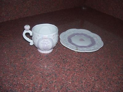 PRECIOUS MOMENTS CUP AND SAUCER OCTOBER 1994