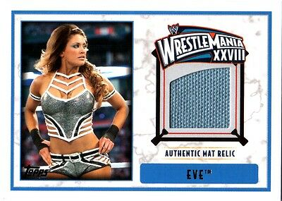 WWE Eve 2012 Topps WrestleMania 28 Authentic Event Used Mat Relic Card