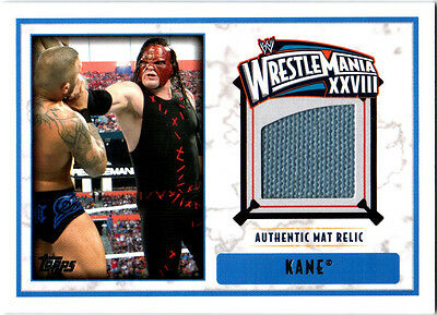 WWE Kane 2012 Topps WrestleMania 28 Authentic Event Used Mat Relic Card