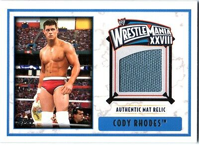 WWE Cody Rhodes 2012 Topps WrestleMania 28 Authentic Event Used Mat Relic Card