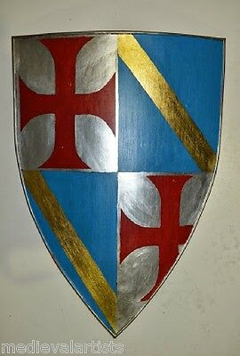 Jaques de Molay Last Knight Master Templar Coat of Arms Heraldic Crusader Shield
