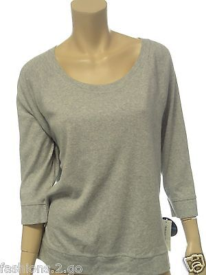 NWT Style & Co NEW WOMENS SOLID GRAY SWEATSHIRT CASUAL ATHLETIC SHIRT TOP XL $44