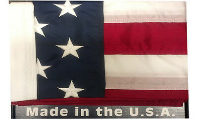 3'X5' American Flag Embroidered Nylon Outdoor Flag Made In The USA , US Flag U.S