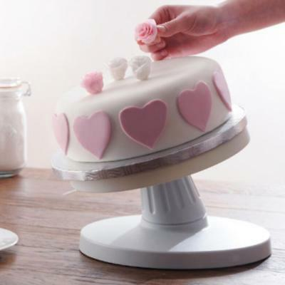 26cm 360℃ Cake Decorating Icing Rotating Revolving Display Turntable Stand