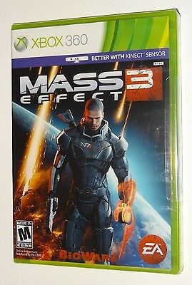 Mass Effect 3 (Xbox 360 Kinect) BRAND NEW FACTORY SEALED --- BioWare Video Game