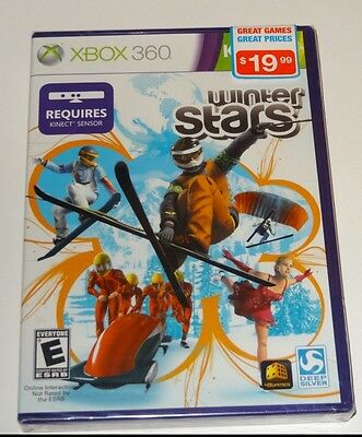 Winter Stars (Xbox 360 Kinect) NEW - Figure Skating, Bobsled Snowmobile, Curling