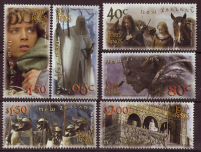 "New Zealand 2002 Lord Of The Rings ""The Twin Towers"" Set Of 6 Unmounted Mint"