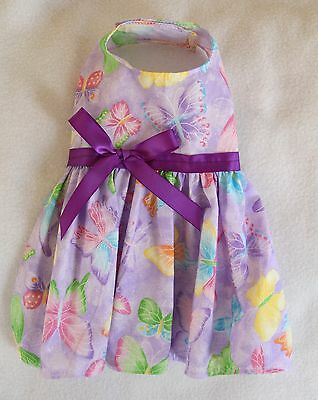 S New Purple Butterfly Dog dress clothes pet Small PC Dog®