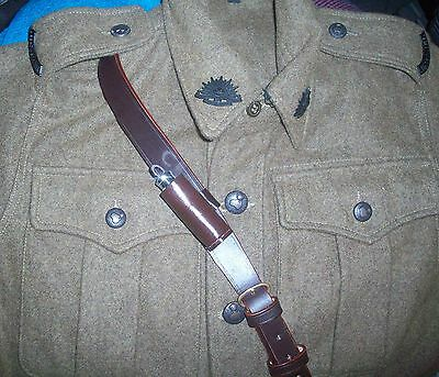 Ww1-Ww2 Officers Whistle With Leather Holder - New Made Nickle Repro